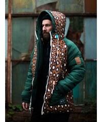 TrueSpin Alaska Reversible Hunter Green Leopard