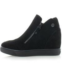 Černé platformové boty XTI 46090