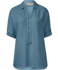 Cecil Bluse mit V-Ausschnitt - glazed neptune blue, Herren