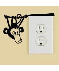 Ambiance Sticker Mini-sticker petit singe sur une branche - Sticker - noir