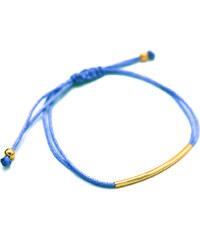 Lesara Armband mit goldfarbenem Element - Blau