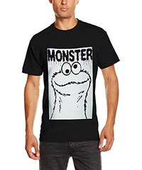 Sesame Street Herren T-Shirt Cookie Monster Rectangle