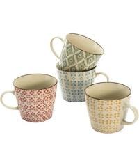 MAILORD Mailord Keramik-Becher-Set 4-tlg. bunt