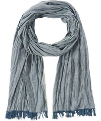 Tom Tailor Damen Schal twill scarf with coloured edge blau OneSize