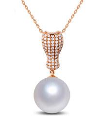 Eppi Zlatý náhrdelník s jihomořskou perlou a diamanty Marcia
