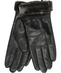 Baťa Kožené dámské rukavice s kožešinkou