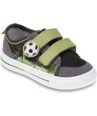 Befado Chlapecké tenisky s fotbalovým míčem - zeleno-šedé