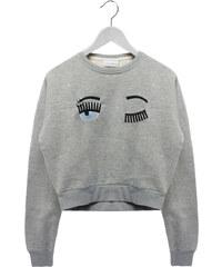 Chiara Ferragni Sweater mitr Comic-Motiv in Grau