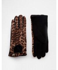 Pia Rossini Leopard Print Gloves - Braun