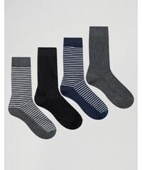 Jack & Jones - Lot de 4 paires de chaussettes - Multi