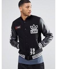Adidas Originals - AY9148 - Veste style universitaire avec écusson - Noir