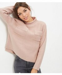New Look Anita and Green – Rosa Rollkragenpullover