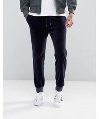 ASOS - Pantalon de survêtement skinny en velours - Bleu marine