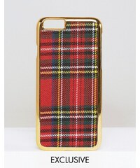 WAH LONDON x ASOS - Coque pour iPhone 6 à motif écossais - Multi