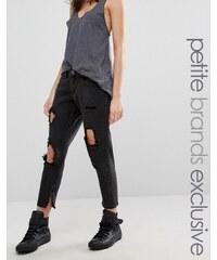 Liquor & Poker Petite - Jean skinny avec déchirures aux genoux et aspect très usé - Noir