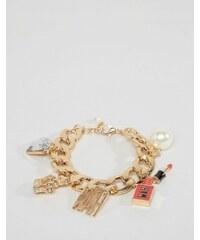 WAH LONDON x ASOS - Bracelet avec breloque - Doré