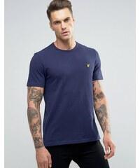Lyle & Scott - T-shirt en piqué motif aigle - Bleu marine - Bleu marine