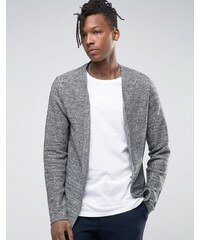 Selected Homme - Cardigan drapé ouvert sur le devant - Noir