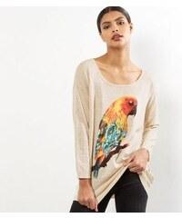 New Look Mela – Hellbeiger Pullover mit Papageienmotiv