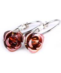 Náušnice s kovovou růžičkou