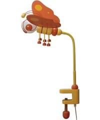 Prezent Stolní lampa MOTÝL oranžová/žlutá/dřevo 28173