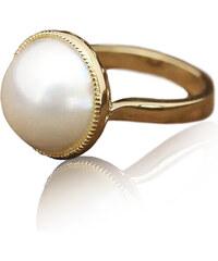 Eppi Zlatý perlový prsten se srdíčky Rhianna