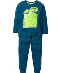 bpc bonprix collection Pyjama GLOW IN THE DARK (Ens. 2 pces.), T. 92/98-152/158 pétrole enfant - bonprix