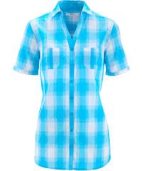 bpc bonprix collection Karo-Bluse, Kurzarm in blau von bonprix