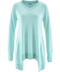 bpc bonprix collection Zipfel-Pullover, Langarm in grün für Damen von bonprix
