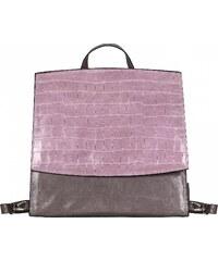 JOST Dámský kožený batoh TALLINN 2166-995 béžovo-šedo-růžový