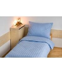 Kvalitex Hotelové povlečení atlas grádl 2cm proužek 140x200,70x90cm modré