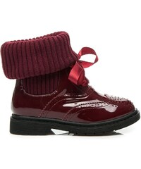 MAGIC FAIRY Stylové červené boty se zateplením