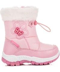 AWARDS Kouzelné růžové sněhule s kožíškem