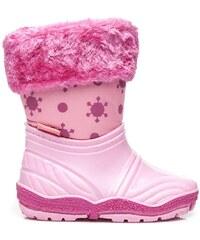 AWARDS Roztomilé růžové sněhule s kožíškem