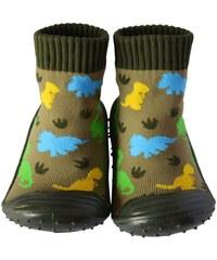 C2bb Chaussons bébé Chaussons-chaussettes enfant antidérapants semelle souple | Dino
