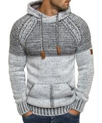 Black Rock Moderní teplý svetr v šedém provedení BLACK ROCK 18001
