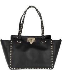 Valentino Sacs portés main, Rockstud Leather Tote Black en noir