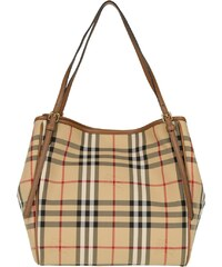 Burberry Sacs à Bandoulière, Horseferry Check Canterburry Shopping Bag Honey Small en marron, beige