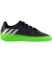 Adidas Messi 16.3 Indoor Court Trainers Childrens, dkgrey/solgreen