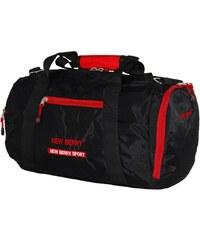 Černo červená sportovní taška Gabriella