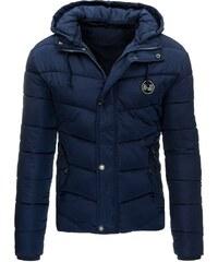 Atraktivní tmavě modrá pánská zimní bunda