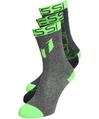 adidas Performance MESSI 3 PACK Chaussettes de sport light grey heather/sulphur green/dark grey