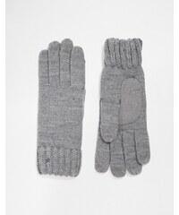 Totes - Gants en maille fine avec 3 doigts pour écran tactile - Gris