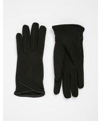 Totes - Gants chauds avec bordure en PU - Noir