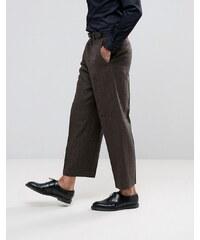 ASOS - Pantalon de costume ample à chevrons - Marron - Marron