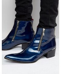 Jeffery West - Sylvian - Bottines zippées - Bleu