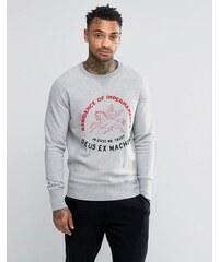 Deus Ex Machina - Sweatshirt mit Pferdemotiv und Stickerei - Grau