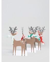 Meri Meri - Carte de Noël avec renne accordéon - Multi