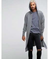 ASOS Oversized Hooded Cardigan In Grey - Gris