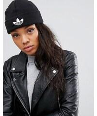 adidas Originals - Strickmütze mit Trefoil-Logo - Schwarz